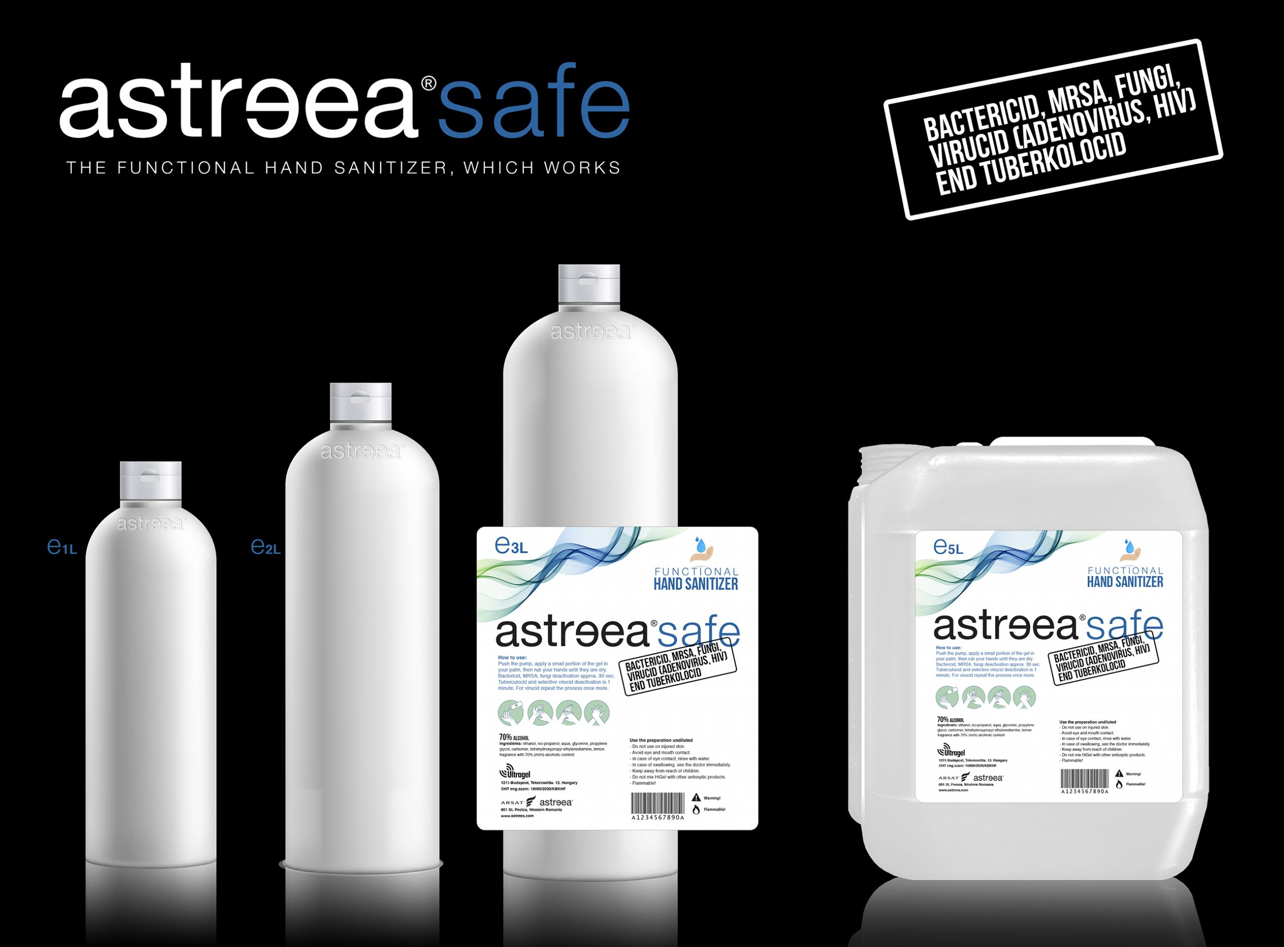 Now, Astreea® can be ordered with sanitizer gel included.