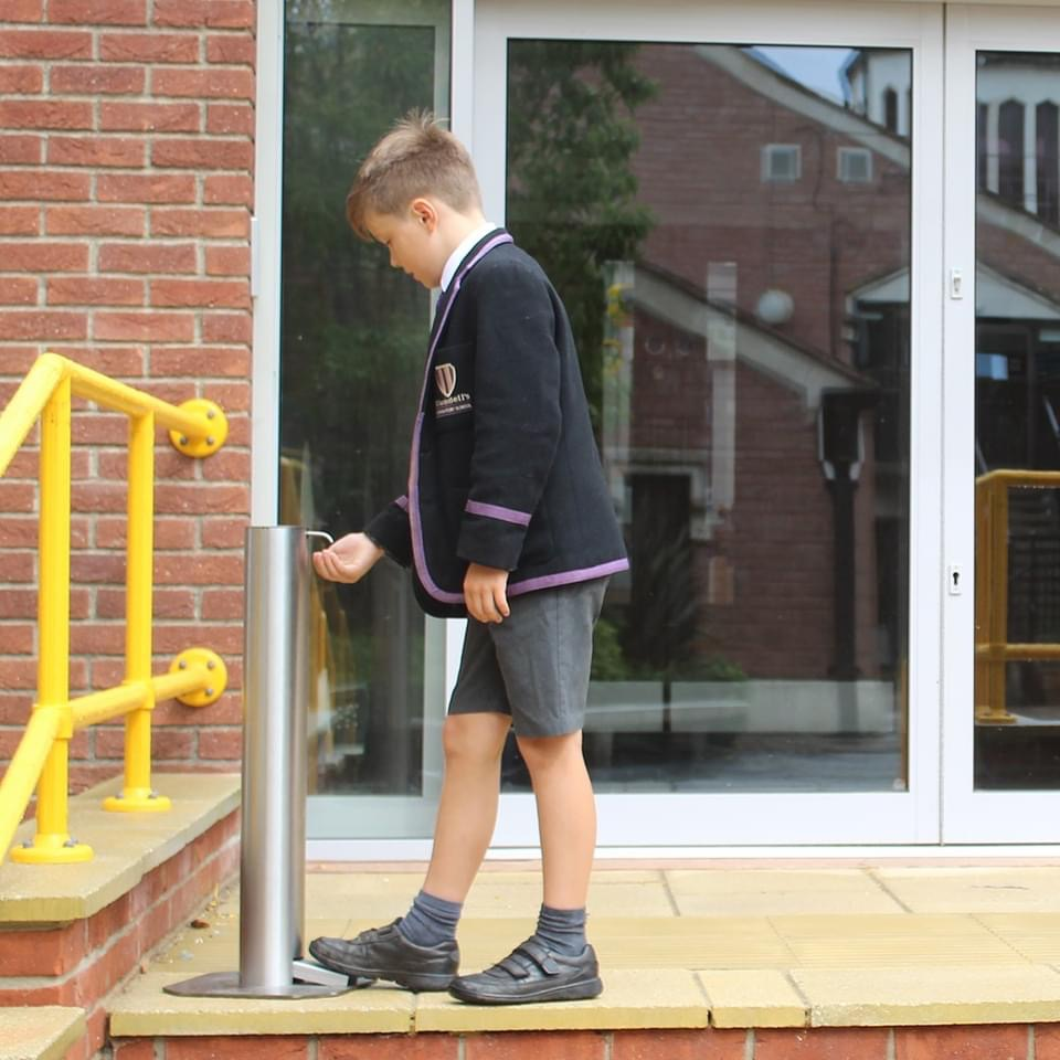 Astreea sanitizer dispensers have been included in the protocols to keep UK schools safe