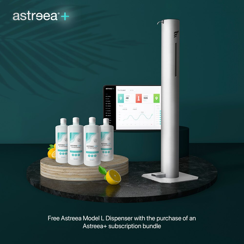 Meet Astreea+, the world's bestselling sanitizer subscription service